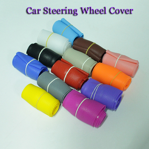 Universal Car Styling Silicone Car Steering Wheel Glove Cover Texture Soft Multi Color Soft Silicon Steering Wheel Accessories