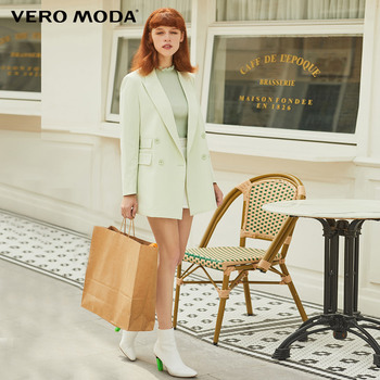 Vero Moda New Ins Style Women's H-shaped Lapel Double-breasted Suit Jacket   319308590