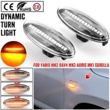 2 stück Für Toyota Yaris COROLLA Auris Mk1 E15 RAV4 Mk3 Dynamische Led Blinker Seite Marker Lichter Sequentielle Blinker lampen