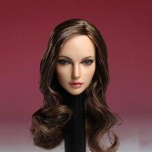 SUPER DUCK 1/6 Европейская и американская женская голова SDH005 A для бледной фигуры PHICEN 12 дюймов