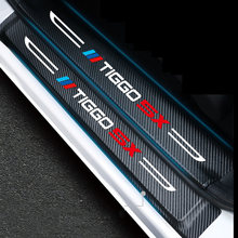 Lsrtw2017 Faser Leder Auto Tür Sill Mat Trunk Schwelle Aufkleber Protector für Chery Tiggo 4 2017 2018 2019 2020 Tiggo 5x Auto