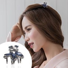 CHIMERA Cute Small Hair Clips Claw Crab Elegant Mini Flower Rhinestones Crystal Hairgrip Metal Clamps Accessories for Girl Women metal rhinestones hair clip vintage bronze plating butterfly hair claw retro flower hairgrip women hair jewelry