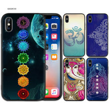 Mandala Chakr Zwart Rubber Zachte TPU Silicone Case Cover voor iPhone X XS XR XS 11 11Pro Max 7 8 6 6S 5 5S 5C SE Plus Fundas Capa(China)