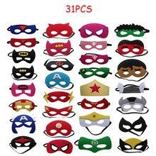 31 шт. супер маски героев для детей на Хэллоуин, Рождество, платье для дня рождения на шнуровке костюм; Маска для косплея Детские Детская вечеринка, день рождения ребенка, подарочная