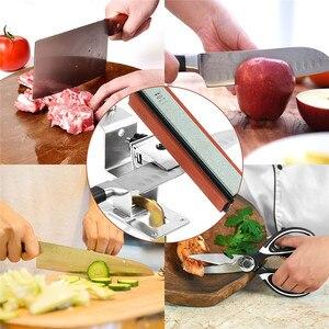 Image 5 - Sistema professionale per affilare i coltelli da cucina con 4 pezzi di pietre per affilare + lega di alluminio + Set di strumenti per affilare i coltelli con clip G