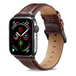 Image 2 - Genuine leather strap for apple watch band 42mm 44mm for apple watch 4/5 38mm 40mm correa replacement bracelet for iwatch 3/2/1