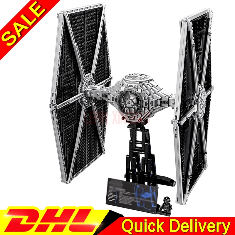 LP <font><b>05036</b></font> Star Wars Kits 1685Pcs Star Wars TIE Fighter Building Blocks Bricks Set Assembled legaoings Toys Gift Clone 75095 image
