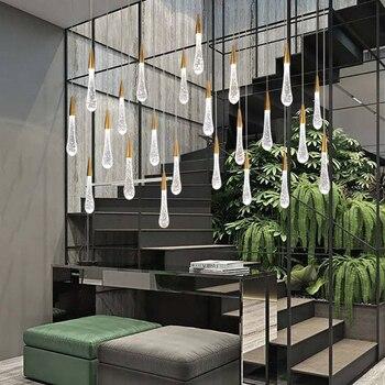 Modern Crystal Chandeliers Lighting Fixtures Water Drop Glass Ceiling Lamp Led Gold Brass Hanging Clear teardrops Lights люстры