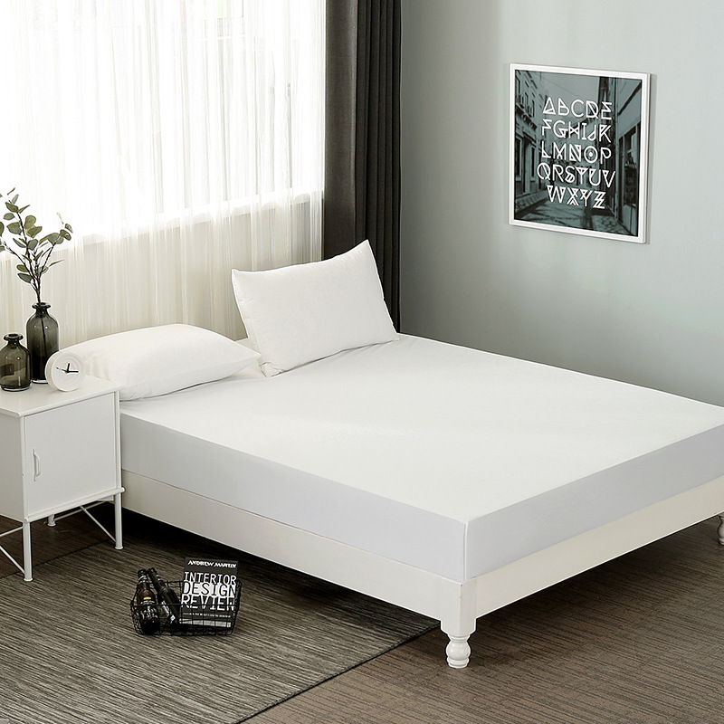 1Pc Bedspread Solid Comfortable Cotton Bed Cover Waterproof Non Slip Fitted Sheet For Bed Protect Mattress Cover For Home/hotels