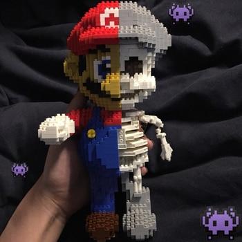цена на 1686Pcs Game Super Marios Mary Bros Brothers Mini Blocks DIY Building Blocks Diamonds Toys 7807 Compatible With Bela Kids Toy