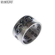 Handmade 925 เงินทิเบตภูมิปัญญาตาแหวนพุทธ Heaven ตาแหวนตาพระพุทธรูปแหวนปรับขนาดได้