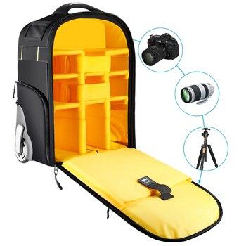 Neewer 2-in-1 Wheeled Camera Backpack Luggage  5
