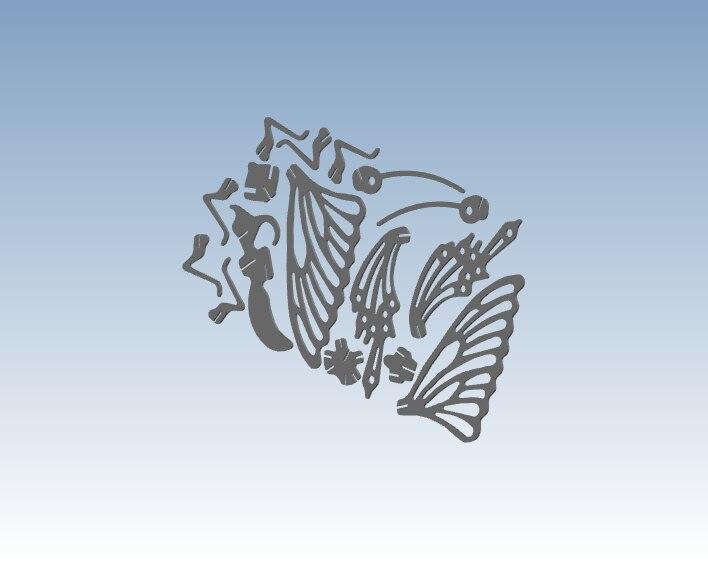 Eenvoudige Vlinder 3D afdrukken service rapid prototyping volgens uw ontwerp bestand ST118 - 5