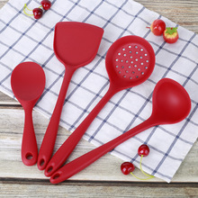 Kitchen gadgets silicone kitchenware 4-piece set cooking spoon spatula kitchen supplies spoons