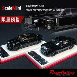 Скалемини 1:64 Rolls Royce Рейф фантомная Смола Модель автомобиля