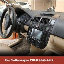Наклейка для автомобиля для Volkswagen VW POLO 2003-2011, Набор наклеек из углеродного волокна с цветным рисунком, Набор наклеек для салона, автомобильн...