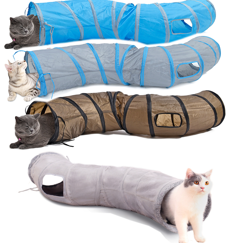 Hihg Quality S shape Pet Funny Toy Foldable Pet Cat Tunnel Play Tubes Balls House Toys Puppy Rabbit Play Dog Tunnel Tube image