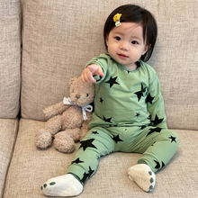 Baby Boys Girls Outfits Long Sleeve Top+ Pants Autumn Winter Stars Print Cotton Loungewear Suits Children bebe Clothing Sets
