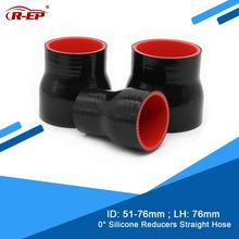 Rubber Joiner Cooler Silicone Inter Cold-Air-Intake-Pipe Hose/Tube 51-76MM Straight R-EP