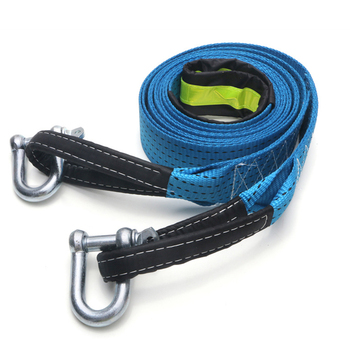 Car Tow Strap Racing Auto Winch Rope Nylon 5M 8Tons recovery Towing cable Strap Belt Heavy Duty Off Road Accessories Metal Hooks