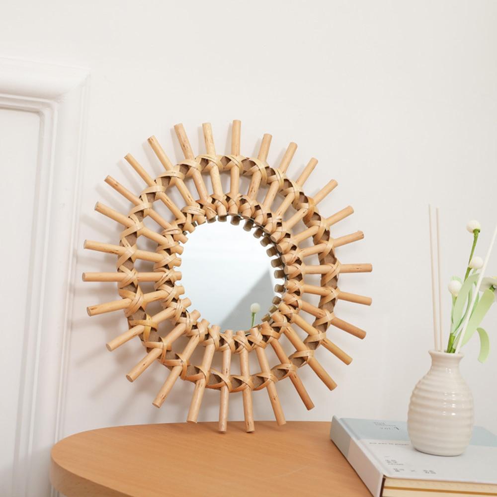 primária bambu tecido espelho artesanal homestay log
