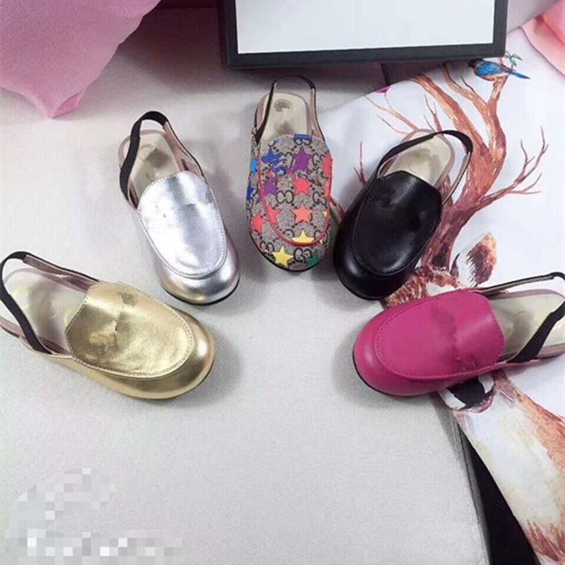 Girls fashion flats kids shoes