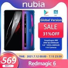 Red Magic 6 5G smartphone versione globale Snapdragon 888 Nubia Redmagic 6 telefono 8/12 128GB 165Hz cellulare AMOLED Google Play