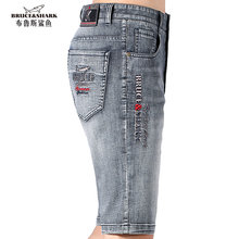 Bruce&Shark New Summer Short Men Jeans Stretch Cotton Straight Loose Style Casual Fashion men's pants Super Quality big size 42