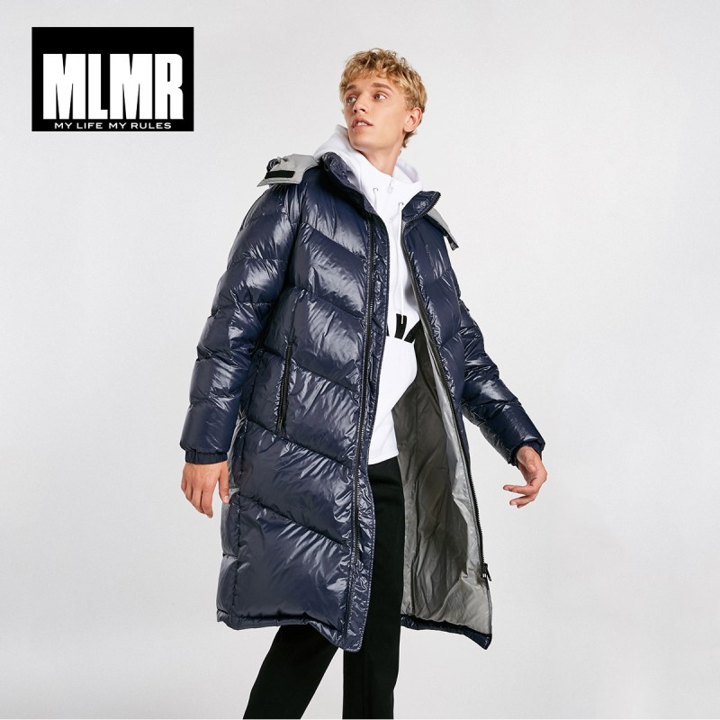 MLMR Men's Winter Hooded Long Down Jacket Parka Coat Jackjones New Menswear 218412530