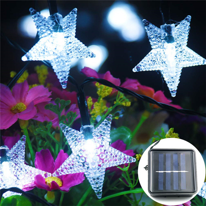 Solar Star String Lights Outdoor Solar Powered Twinkle Fairy Light 5/7/10M LED Decoration For Garden Lawn Patio Trees Xmas Party