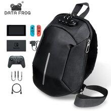 Borsa a tracolla impermeabile per uomo antifurto DATA FROG per Nintendo Switch borsa da viaggio per Laptop con tracolla da viaggio