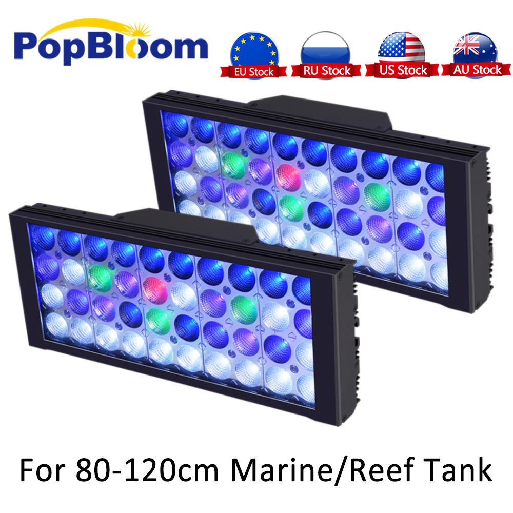 Aquarium LED Lighting For Reef Tank Full Spectrum UV Aquarium Lamp Dimmable Programmable LED Coral Marine Turing30|Lightings| - AliExpress
