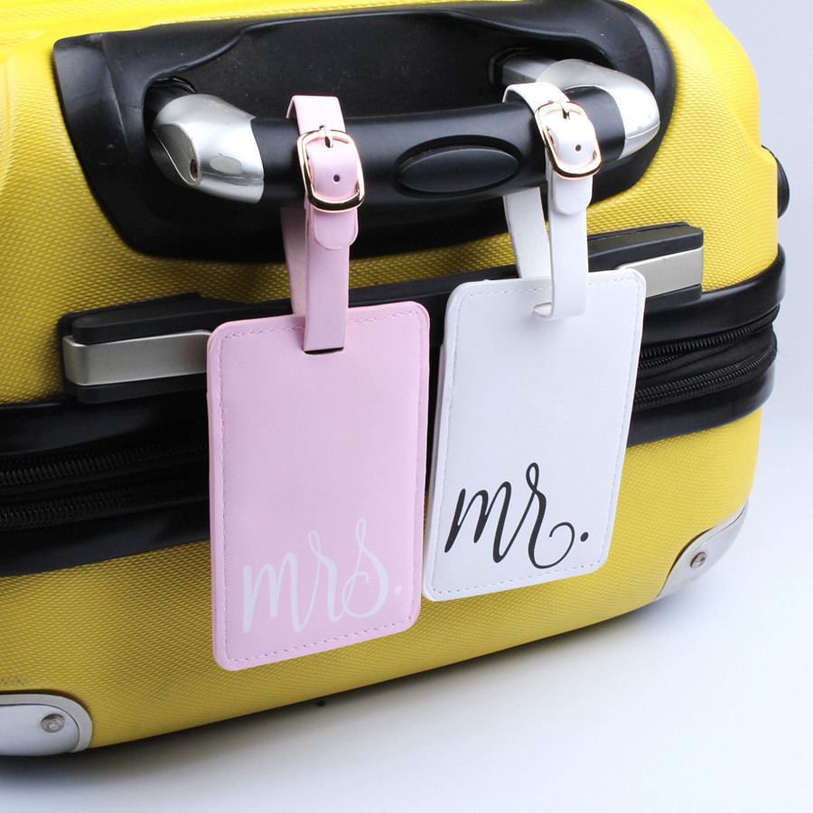MR&MrS Suitcase Luggage Tag Bag Pendant Travel Accessories Name ID Address Personalized VIP Invitation Label LT33