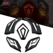 DESRIK Motorcycle Turn Signal Lamp Cover Cap For Yamaha TMAX530 TMAX 530 2012-2016 Front Rear Lamp Shell Flashing Light Cap
