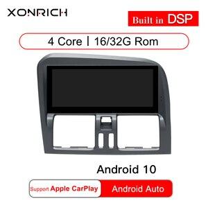 8.8 cala RAM 2G Android 10 Radio samochodowe nawigacja GPS dla Volvo XC60 2009-2015 Stereo Bluetooth DVR Carplay w pełni dotykowy Autoradio