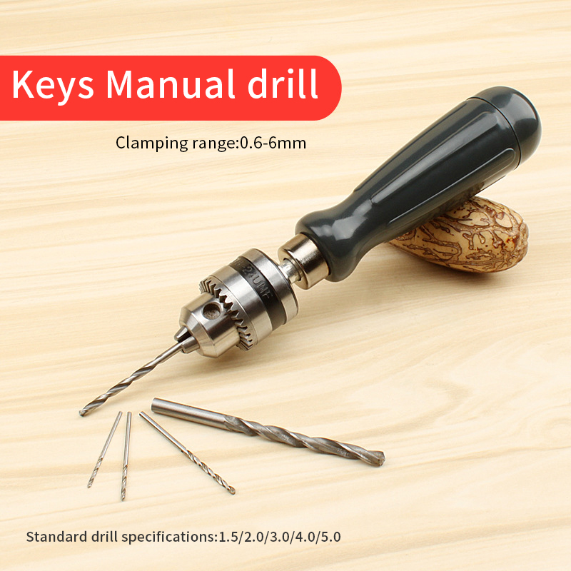 Manual Drill Chuck Woodworking Drilling Rotary Tools Hand Drill Jewelry Craft Hand Tool