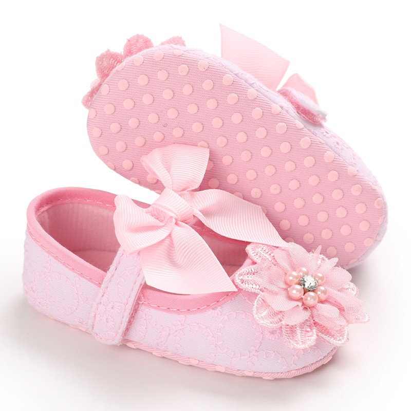 Baby Girl Shoes Toddler Girl Soft Flowers Soft Soled Footwear Shallow Newborn Baby  For Autumn Spring Baby Shoes Girls