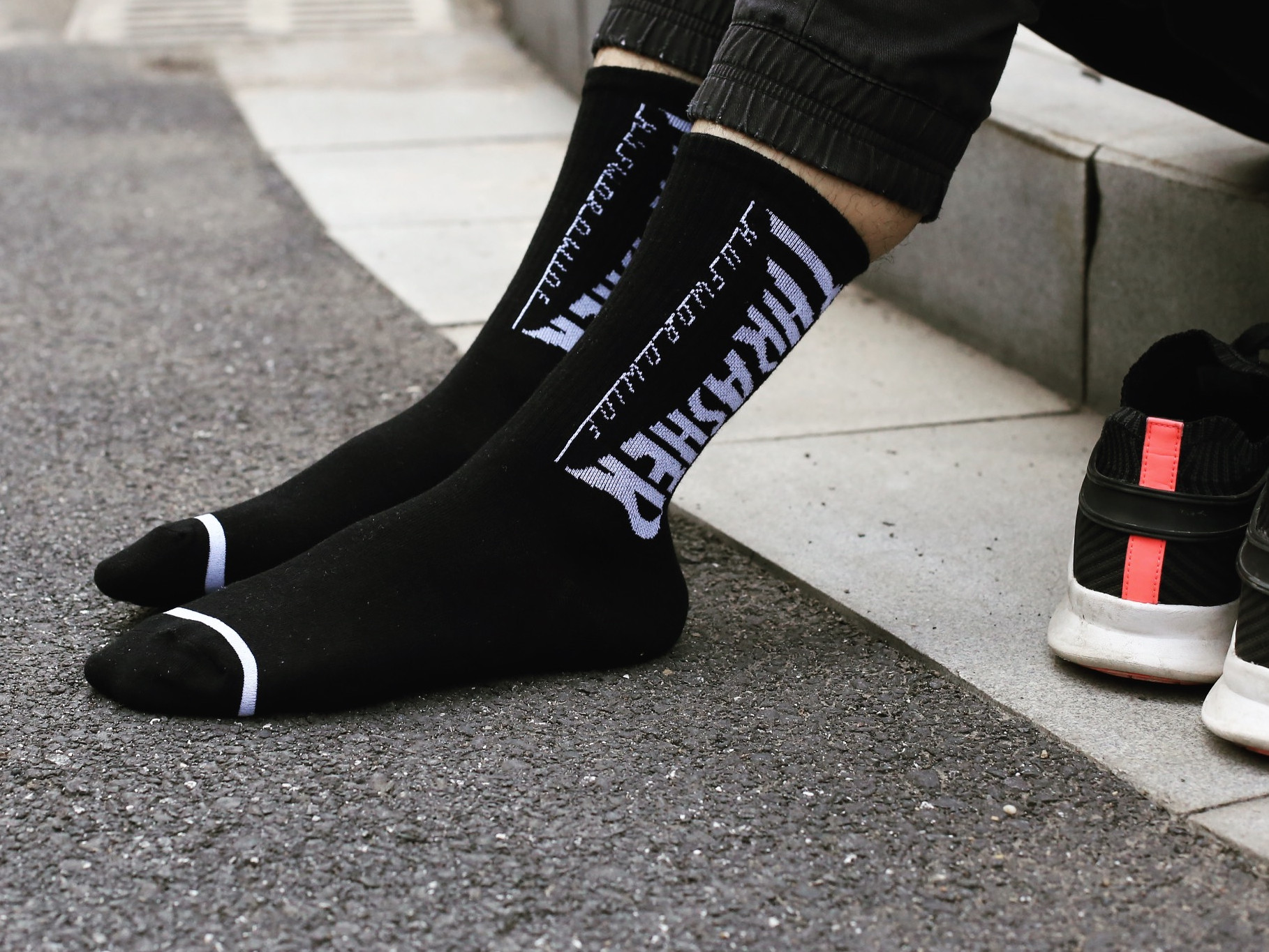 Europe And America Popular Brand Versatile Lettered Cotton Tube Socks Harajuku-Style Solid Color Men And Women Couples Sports Lo