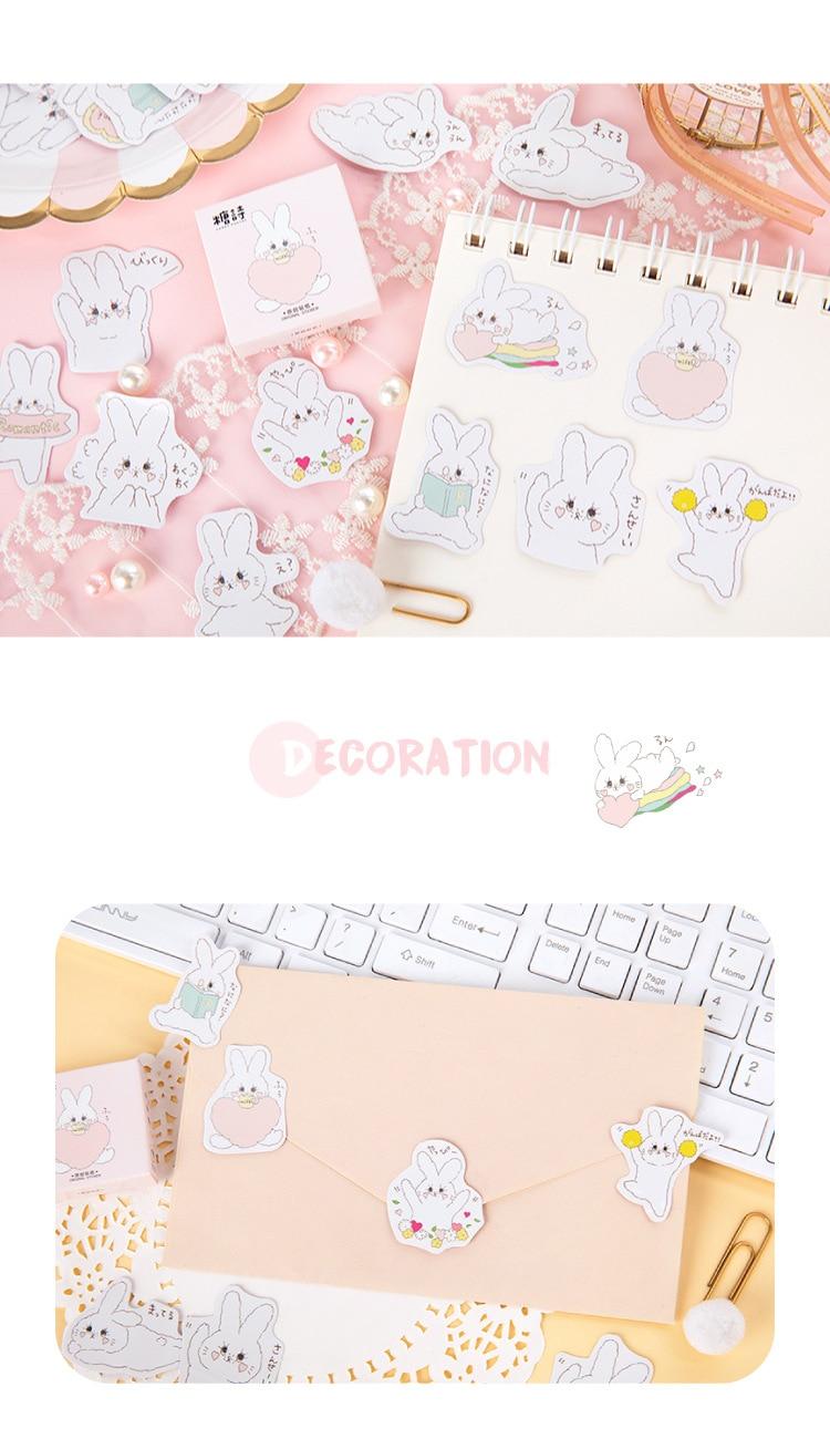 decoration using rabbit stickers