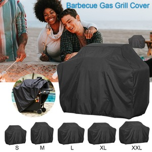 Bache Barbecue Black Waterproof BBQ Cover Outdoor Rain Grill Barbacoa Anti Dust Protector For Gas Charcoal Electric Barbe(China)