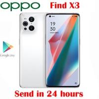 OPPO-teléfono inteligente Find X3, Original, oficial, 5G, Snapdragon 870, Pantalla AMOLED pulgadas de 6,7, cámara trasera de 50.0MP, 65W, SuperVOOC, Android 11 OS, NFC