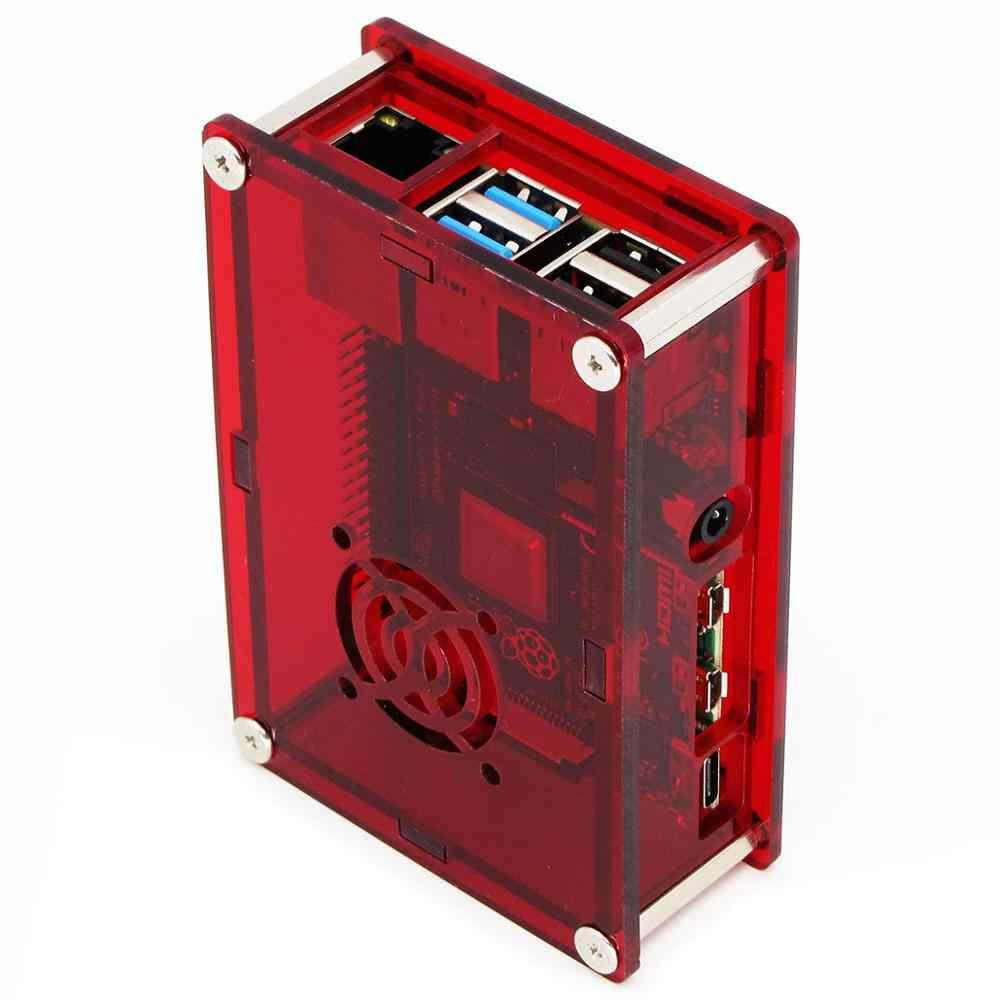 PMMA الاكريليك حالة مربع ل التوت بي 4 نموذج B 1 GB/2 GB/4 GB البلاستيك الضميمة الإسكان شل غطاء من التوت بي 4 B PI4 4B