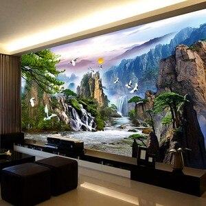 Image 3 - QIANZEHUI travaux de couture, bricolage, série paysage, faire de largent, décoration murale, daccueil, pour accueillir les invités au pin au point de croix