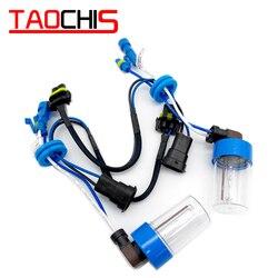 Taochis hid farol 12v 35w lâmpada de xenônio h8 h9 h11 substituição lâmpadas diy modificar farol luzes nevoeiro 3000k 4300k 5000k 6000k