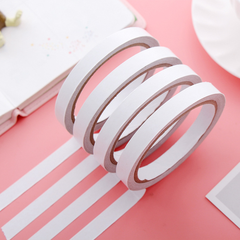 1.2M Double Faced Adhesive Deco Tissue Tape Sided Face Papeleria School Stationery Store Sticky Item Office Accessory Tool Thing