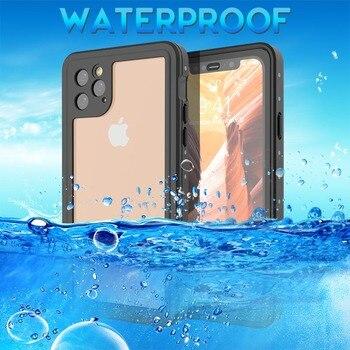 Caisson étanche antichoc pour iPhone 11 Pro 11 étui Sport de plein air IP68 étanche à la poussière housse de plongée pour iPhone 11 Pro Max Coque Coque de téléphone résistant à l