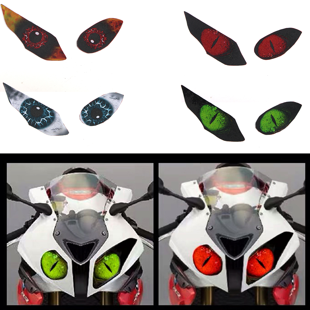 For BMW S1000RR S <font><b>1000</b></font> RR S1000 2015 2016-18 Motorcycle Headlight Protection Stickers Light Transmission Headlamp Lamp Parts image