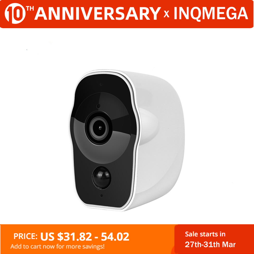 INQMEGA Wireless Battery Powered IP Camera Wifi 1080P Indoor Home Surveillance Security CCTV Camera Rechargeable IR Record Audio