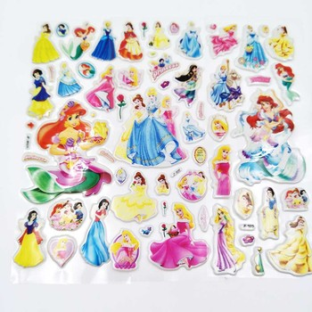 Six Princess Theme Party Supplies Plate Cups Straws flag Tablecloths Candy Box Knives Spoons Napkins Birthday Party Decorations image