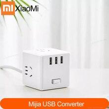 Chính Hãng Xiaomi Mijia 2 Cốc Sạc Điện Dây Adapter 6 Cổng Ổ Cắm Chuyển Đổi Tiết Kiệm Không Gian Ổ Cắm Ổ Cắm Magic Khối Lập Phương